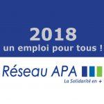 2018 un emploi au Réseau APA