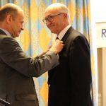 Pierre Kammerer reçoit les insignes de Chevalier de la Légion d'Honneur, le 12 avril 2019 à Mulhouse