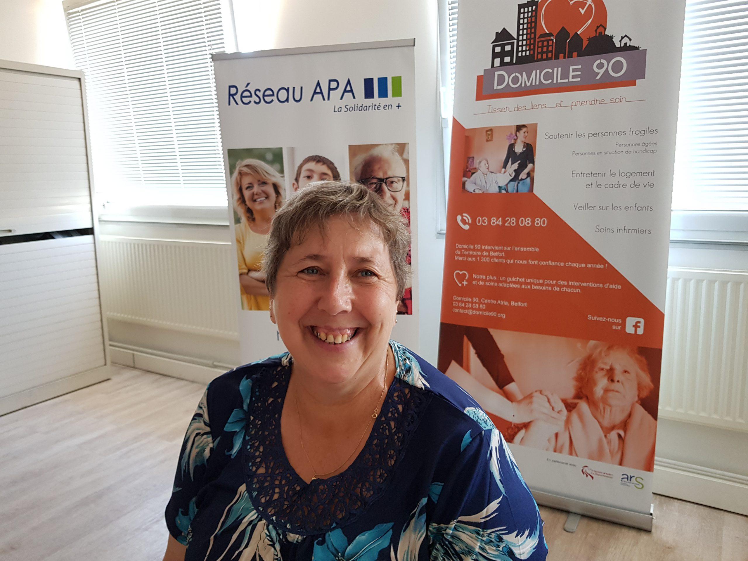 Claudine Géhant, représentante des auxiliaires de vie