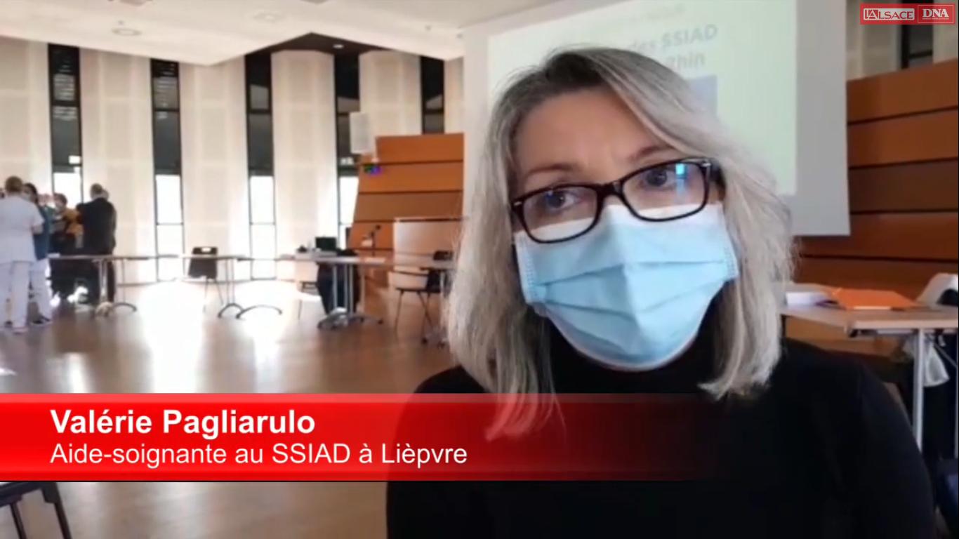 Témoignage : Valérie Pagliarulo aide soignante au SSIAD de Lièpvre
